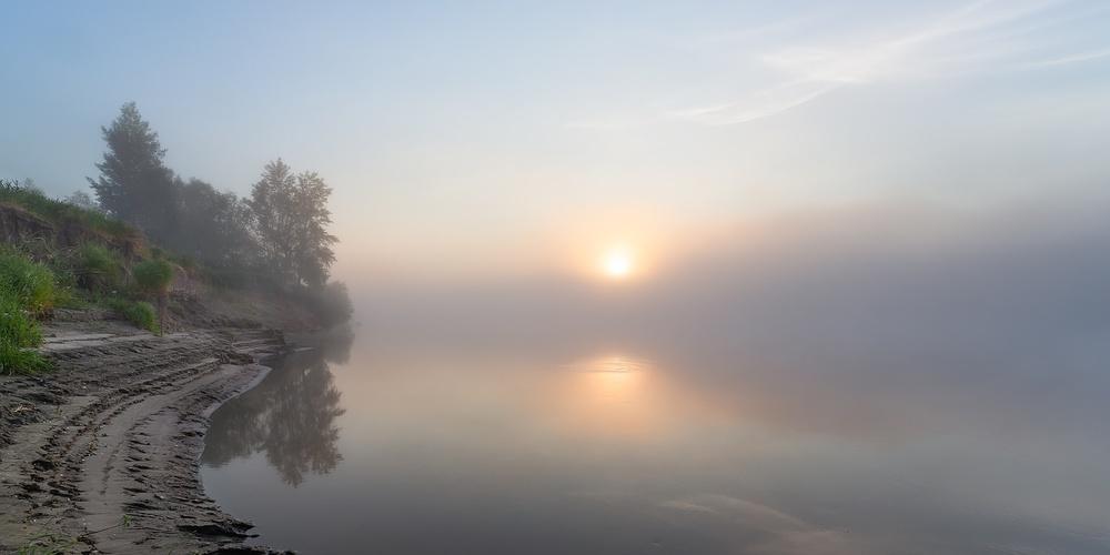 Работа: Туманное утро на Тоболе