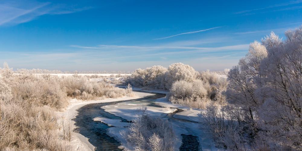 Работа: Река Кшень. Зима.
