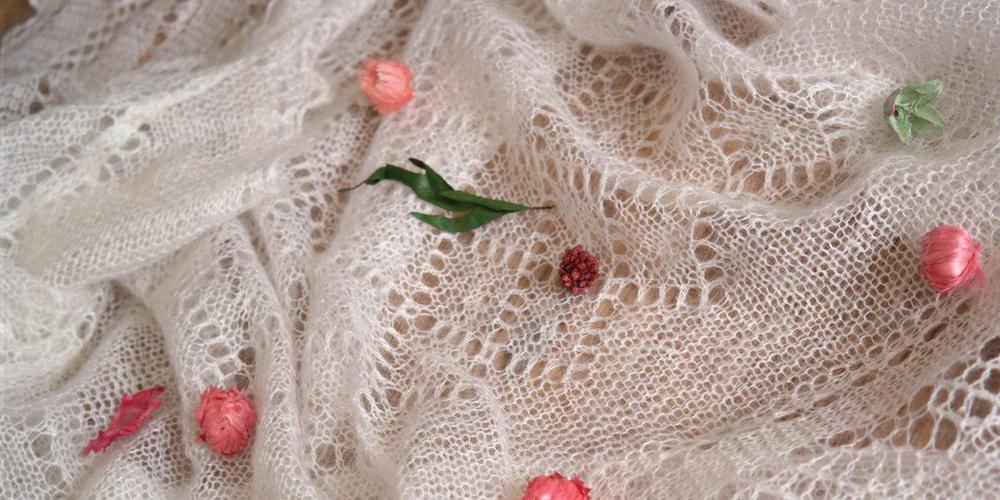 Работа: Оренбургский пуховый платок - русский стиль, русская красота