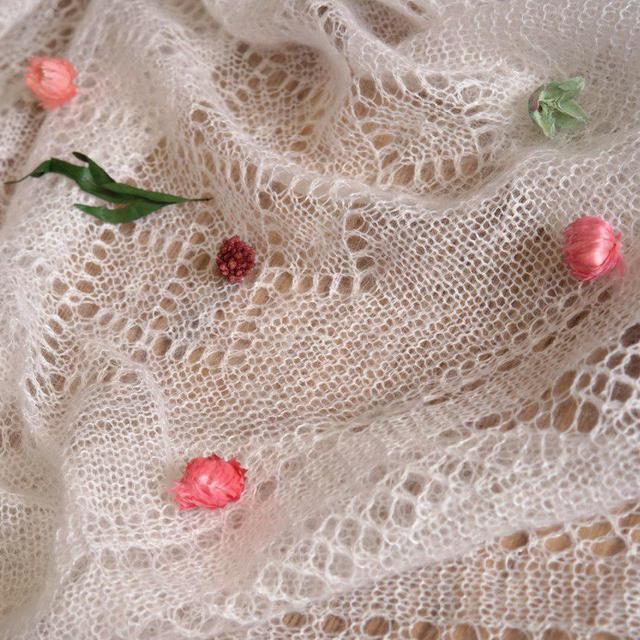 Работа : Оренбургский пуховый платок - русский стиль, русская красота