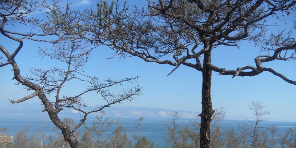 Работа: Остров Ольхон, Байкал. Вид на Приморский хребет.
