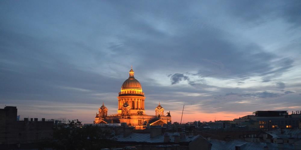 Работа: Ночь, улица, Исаакиевкский собор