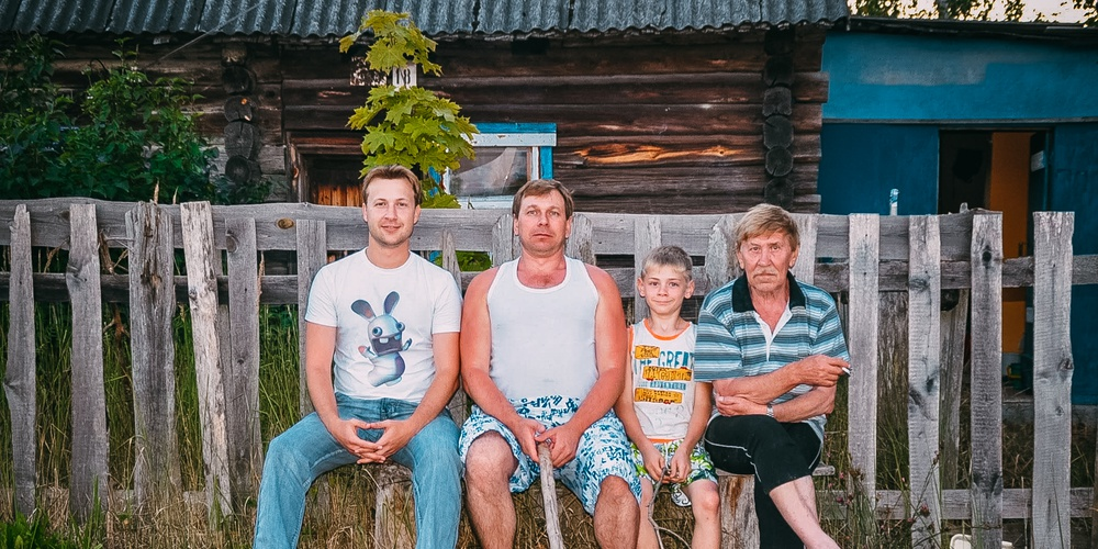 Работа: 4 поколения мужиков