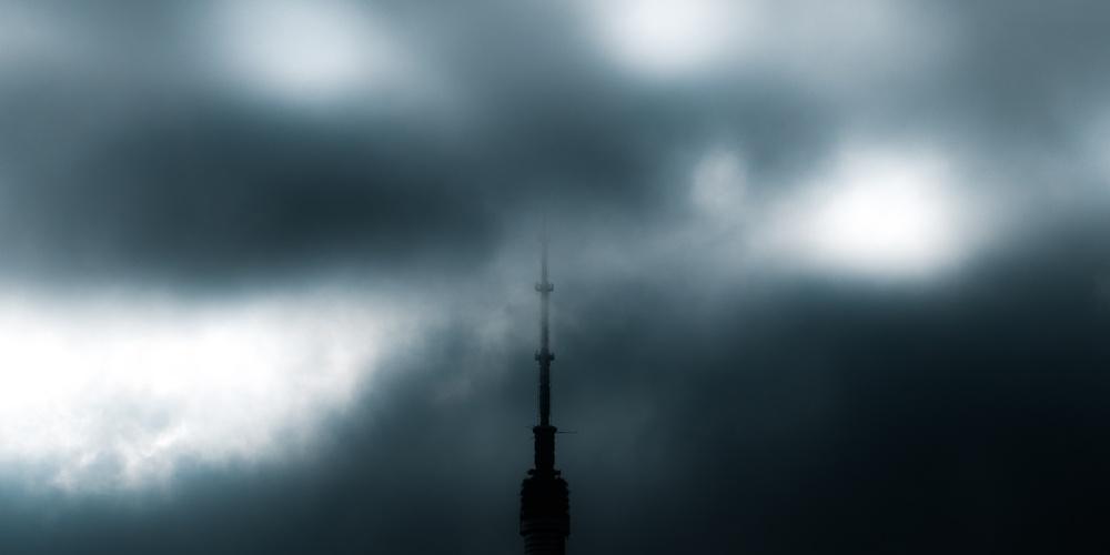 Работа: Телебашня в облаках
