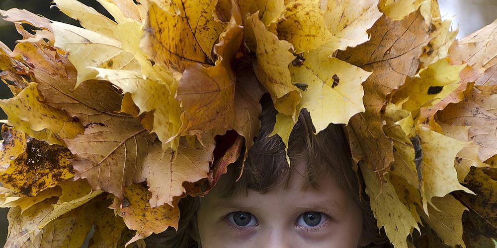 Работа: Девочка осень