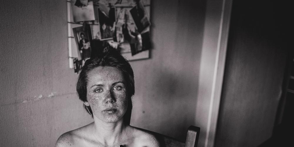 Работа: Портрет с ромашками