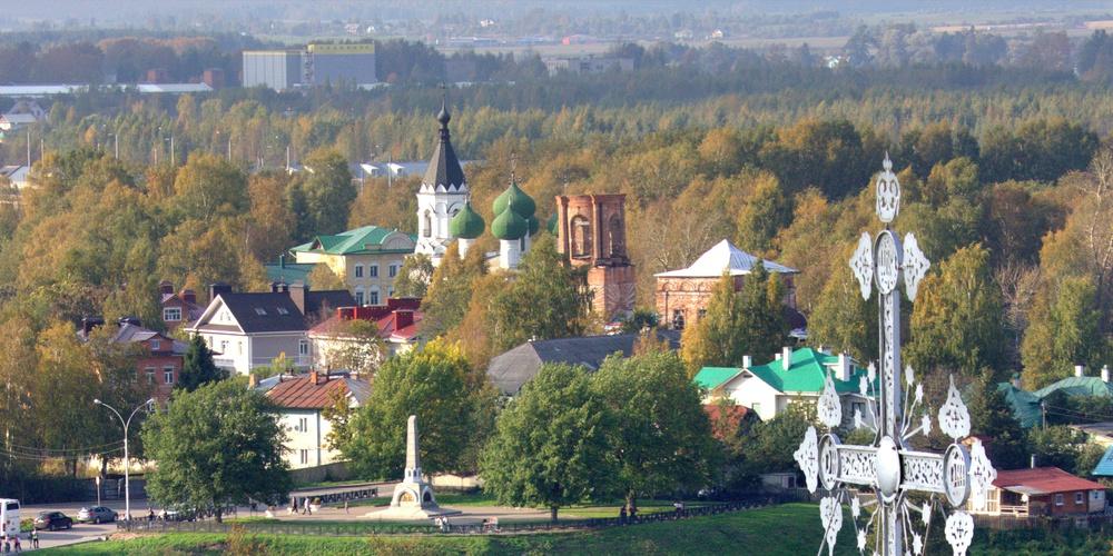 Работа: Виды Вологды с колокольни Софийского собора.