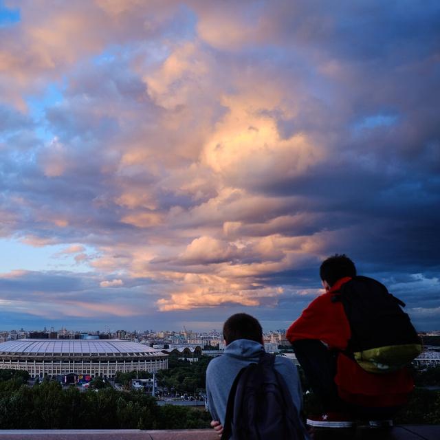 Работа : Закат на Воробьевых Горах