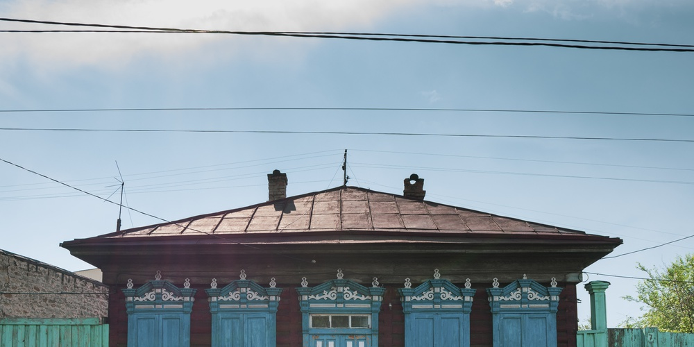 Работа: A typical house in Ulan Ude